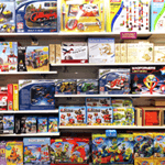 mobile-merchandising for children's accessories and toys
