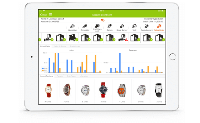 watch & jewelry mobile CRM